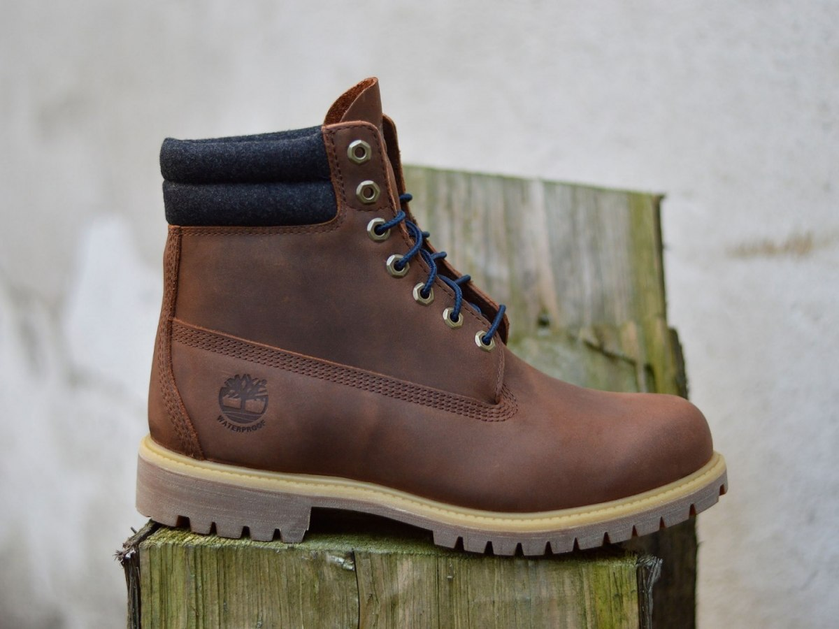 2ee80d734d0 Details about Timberland 6 IN Double Collar A1QZJ Leather Hiking/Winter  Boots